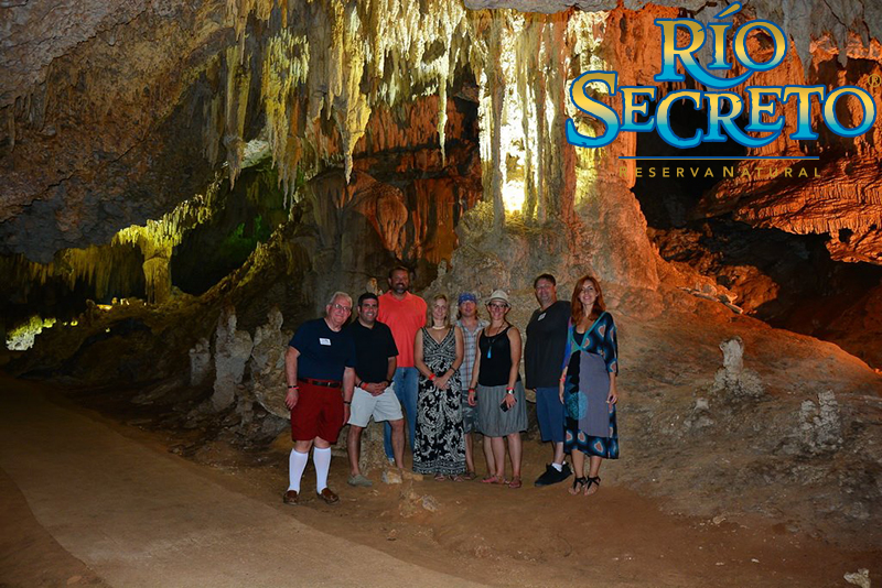 Tim and the TBEX Crew at Rio Secreto