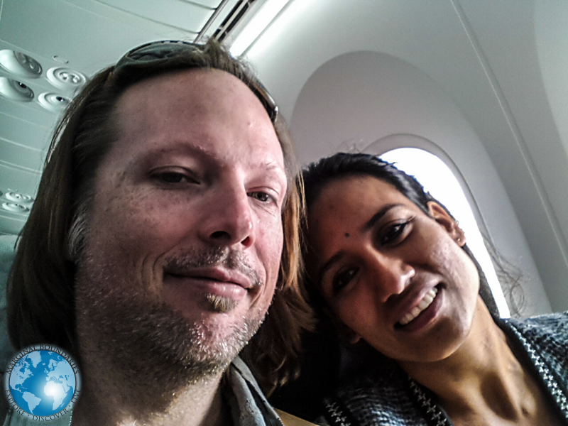 TIm & Cris on Avianca Airlines