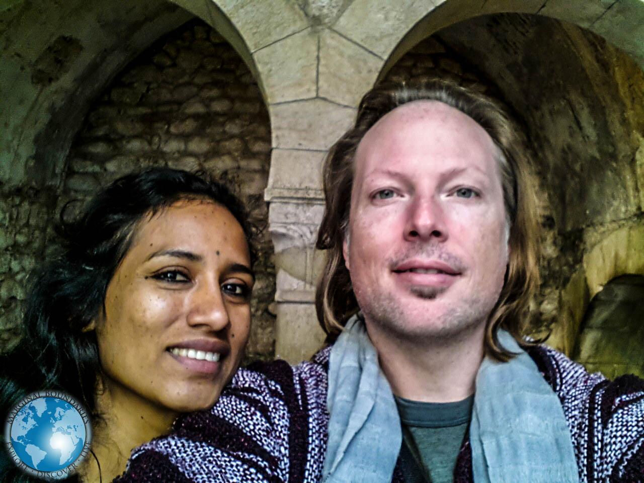 Us at The Arabian Bath House in Girona