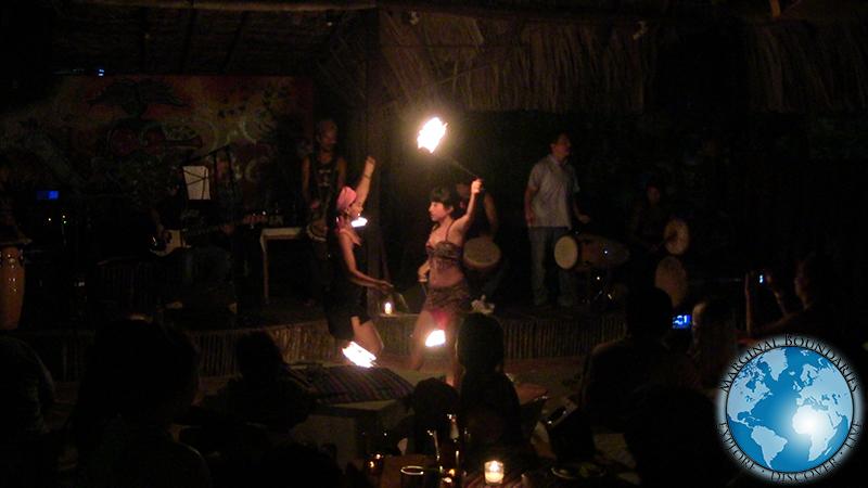 fire show at El Panchan