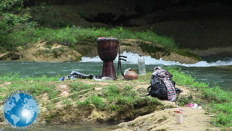 camping gear at Agua Azul