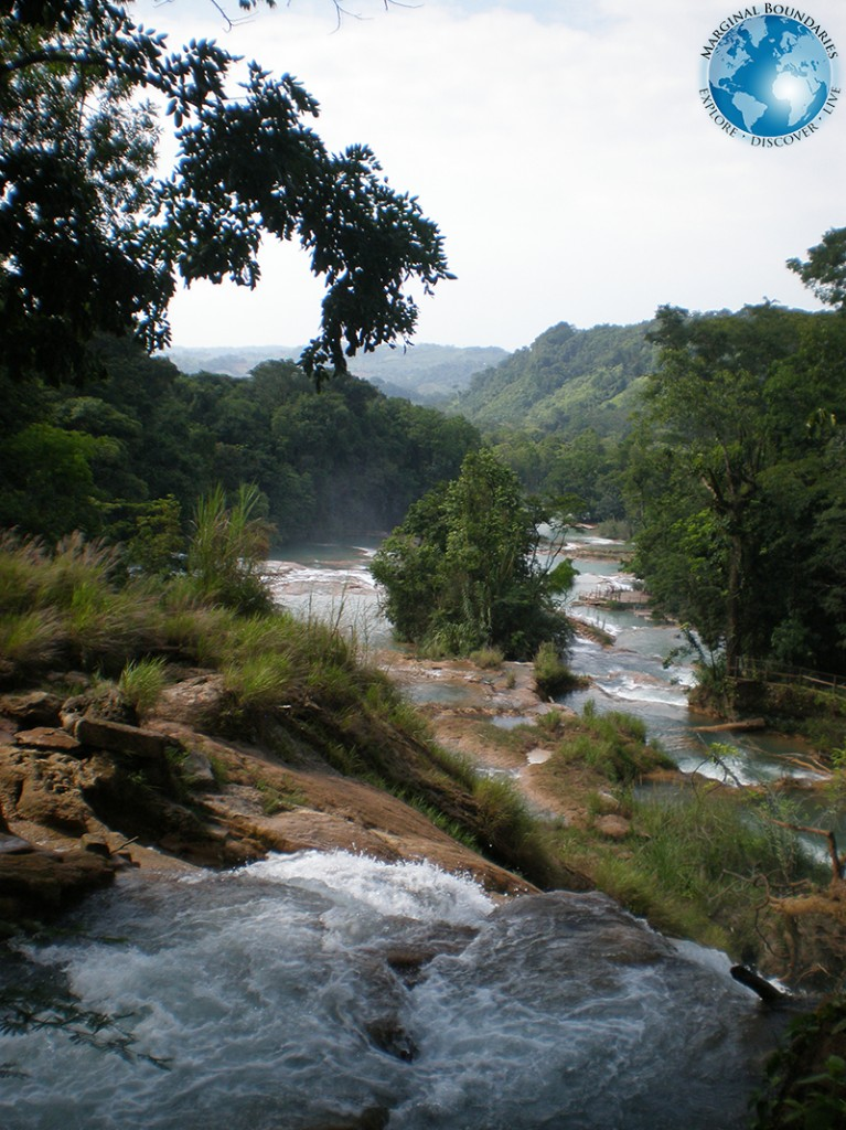 the view down Agua Azul
