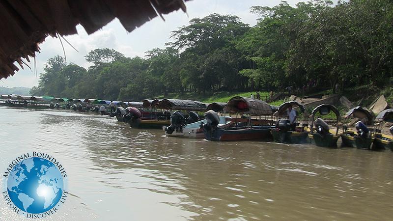 Las Lanchas en el rio Usumacinta