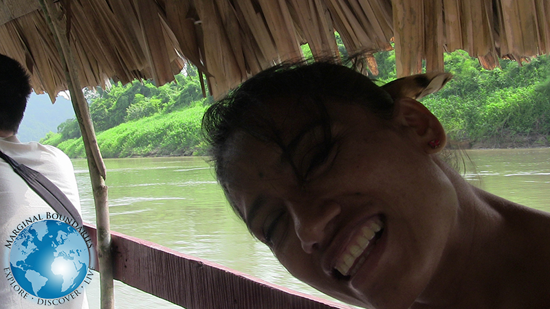 Cris on the Usumacinta River