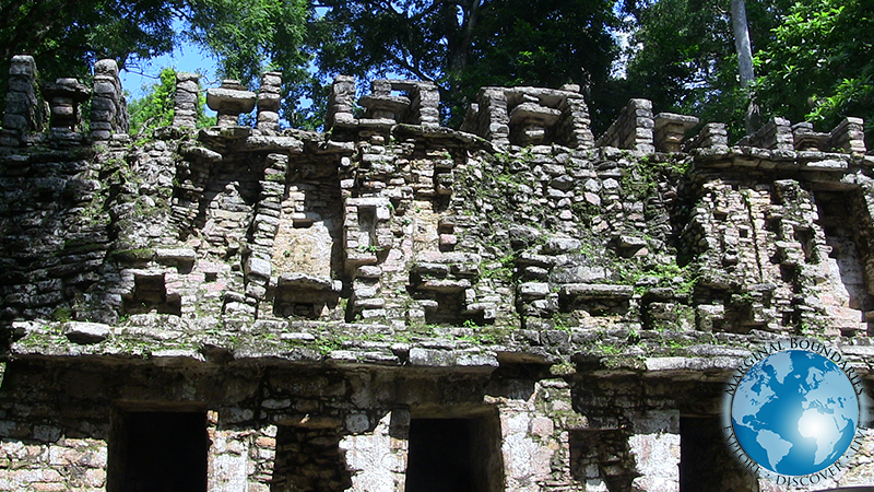 The entrance to the Maya ruins of Yaxchilan