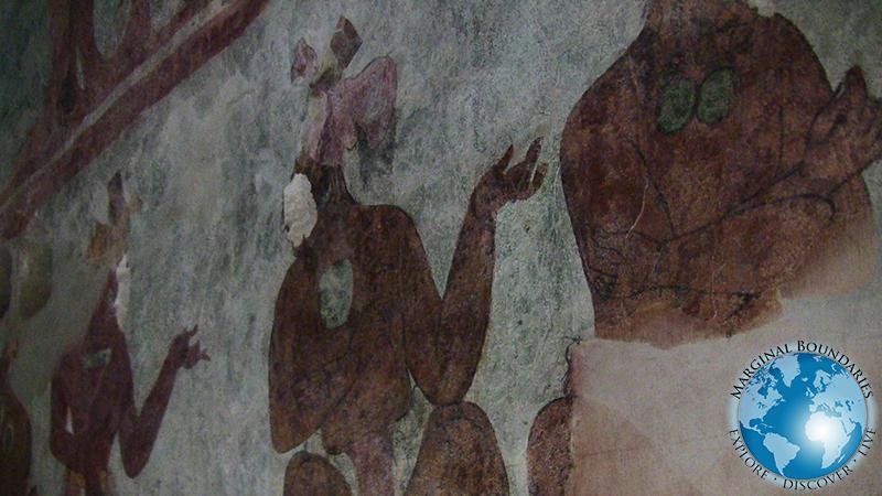 pyramid paintings at Bonampak