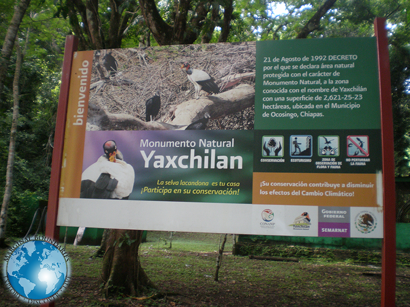 the ruins of Yaxchilan