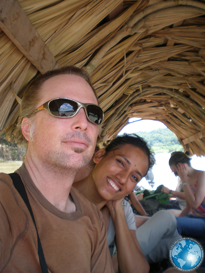 Tim and Cris on the boat down the Usumacinta River