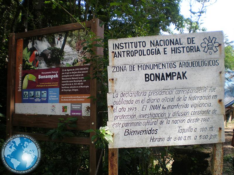 The ruins of Bonampak
