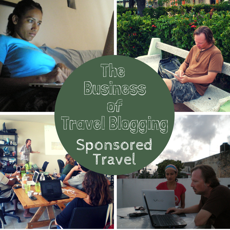 The business of travel blogging - sponsored travel