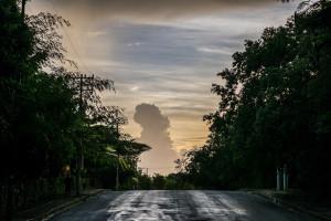 sunrise clouds in Cancun