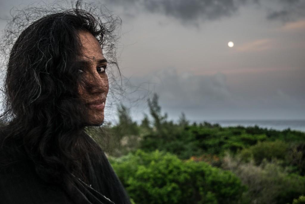 Cristina at night in Playa del Carmen