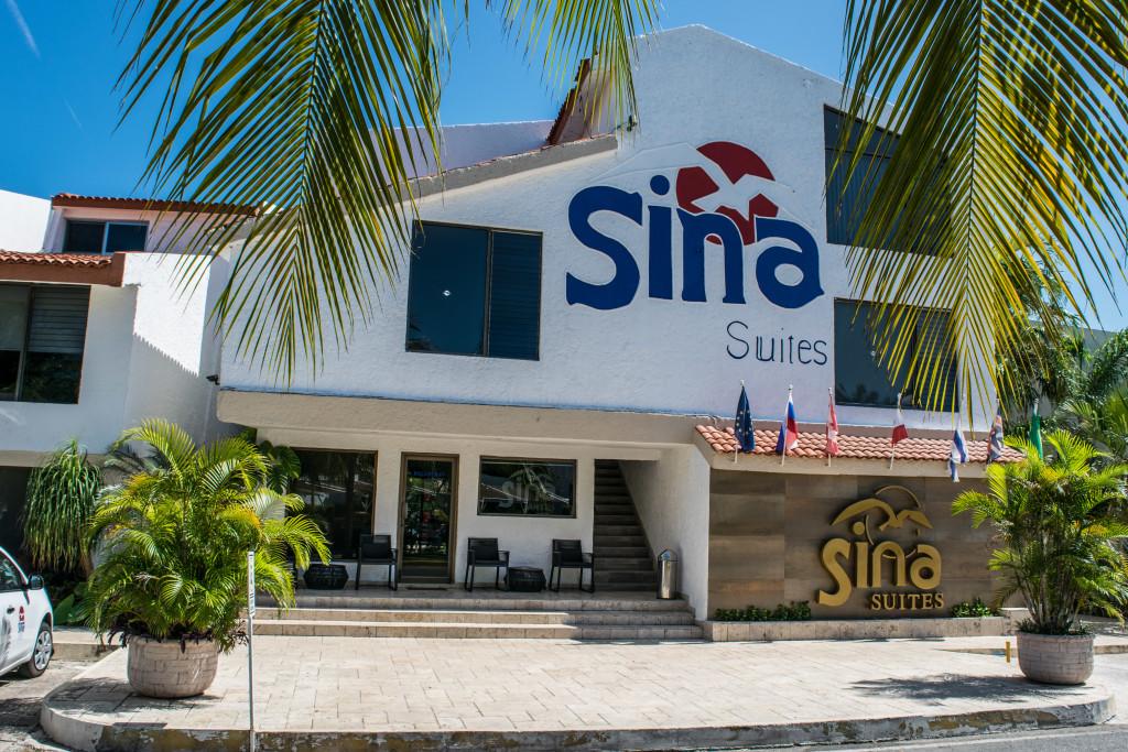 exterior of Sina Suites