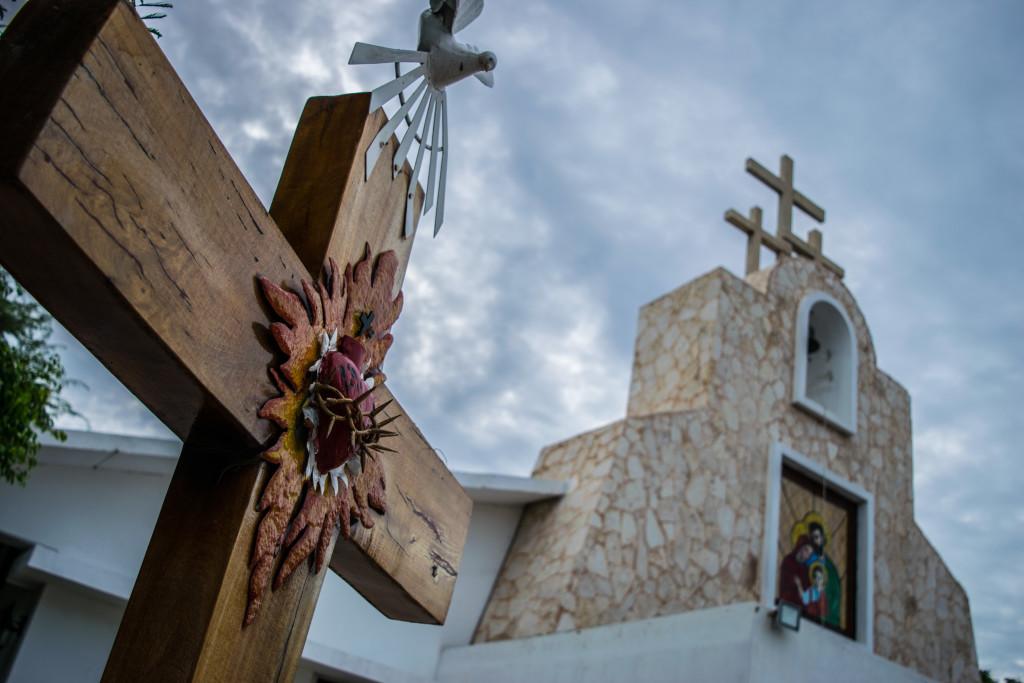 Random church in Cancun