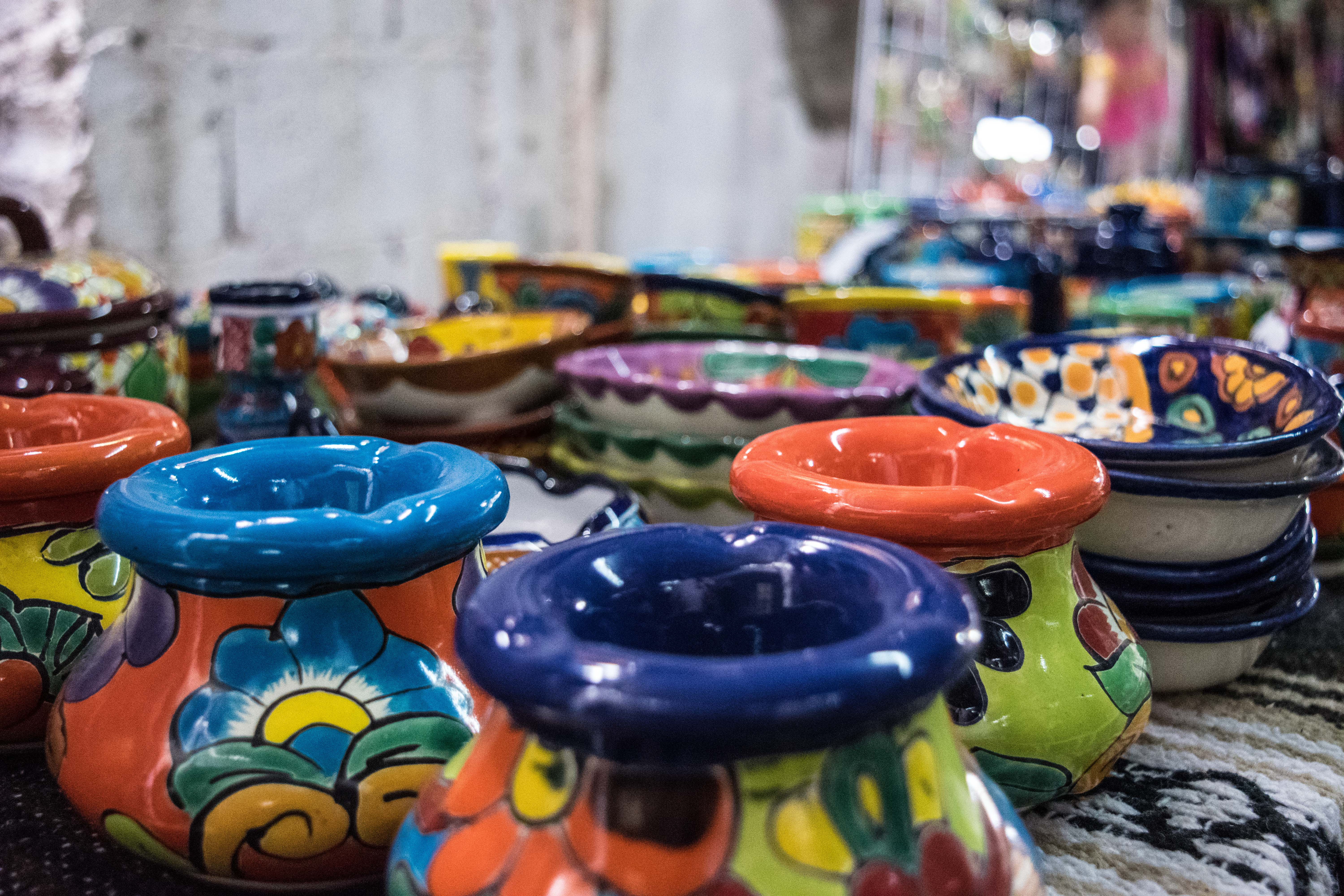 pottery at the market