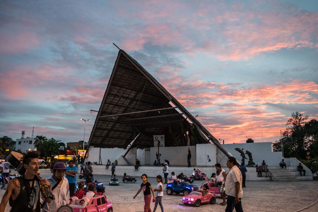 Parque las Palapas stage in Cancun