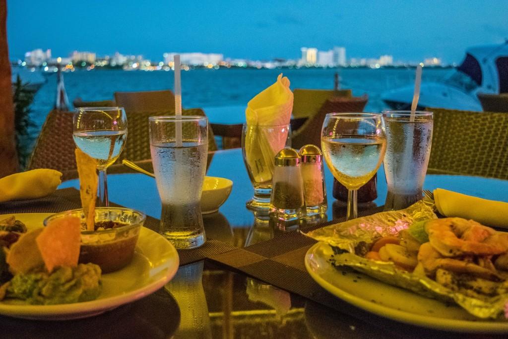 dinner over the lagoon