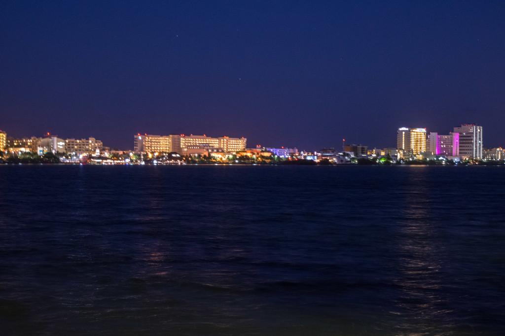 Hotel Zone at night