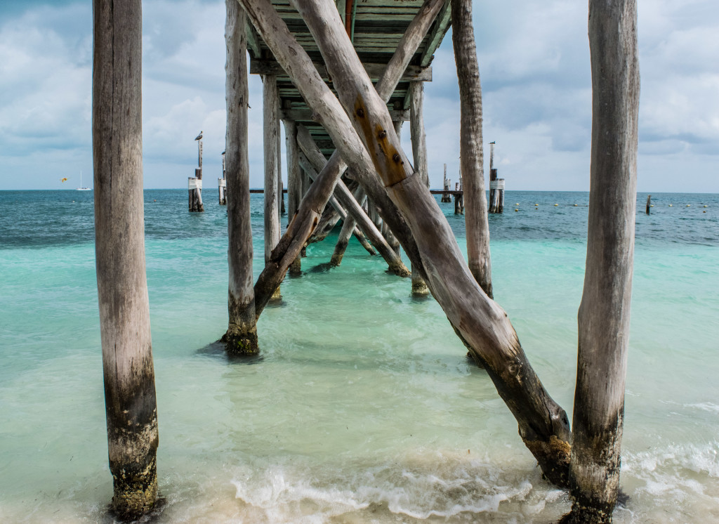 pier at Playa Tortugas, Cancun