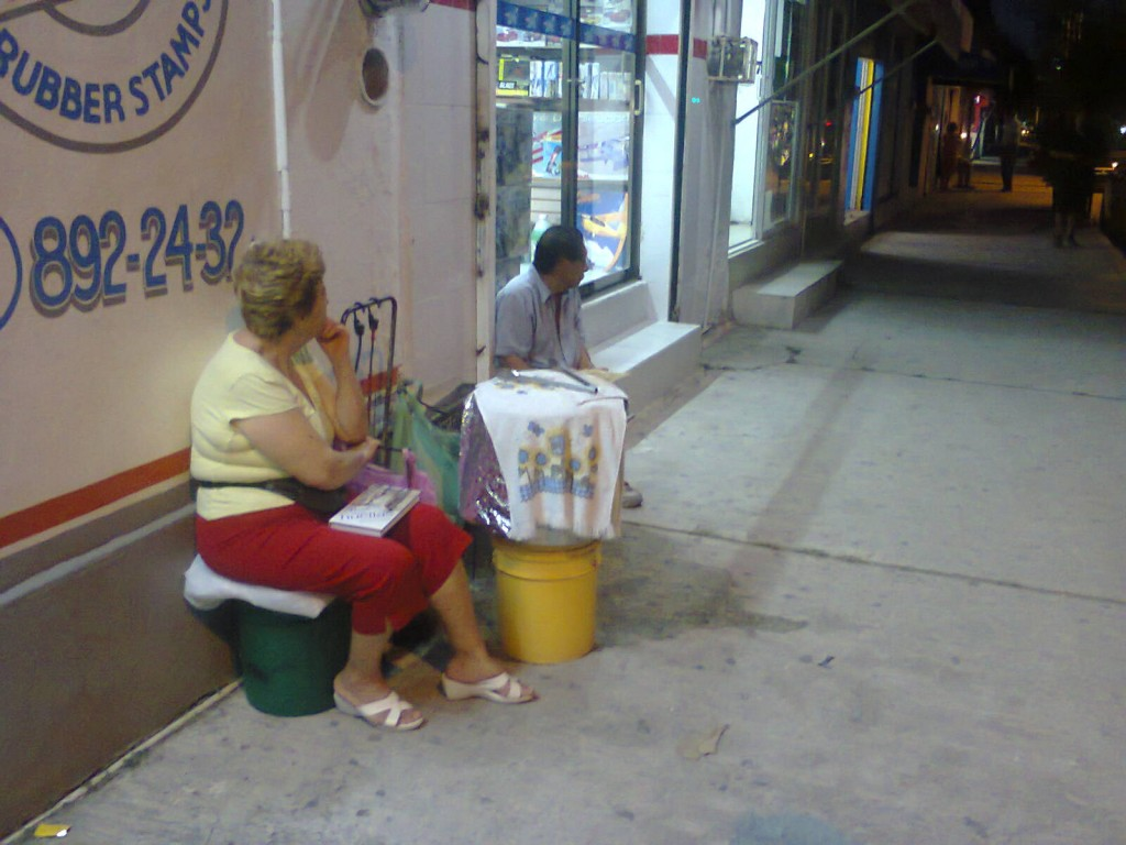grandma selling tamales