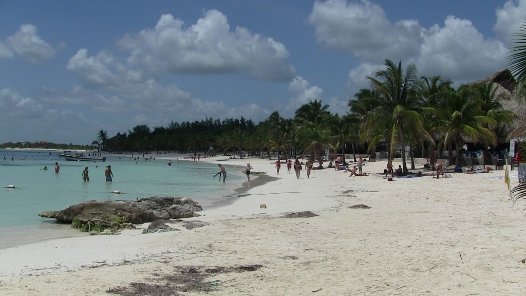 The beach at Akumal, Mexico