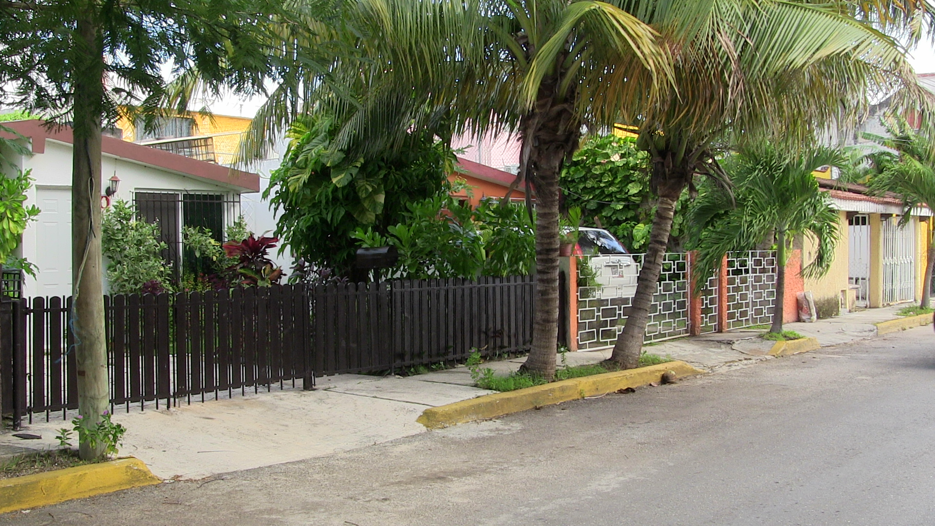 Local neighborhood in Cancun