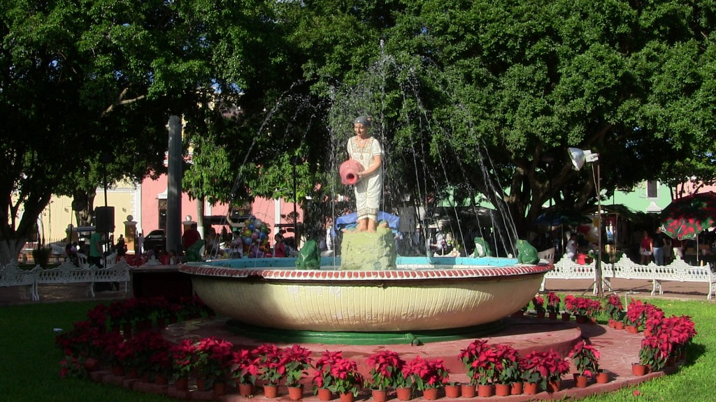 fountain at the zocalo