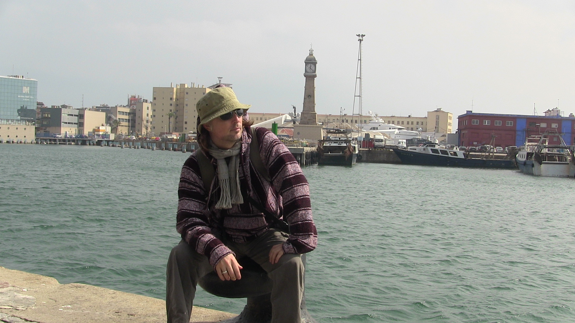 Tim at the Port of Barcelona