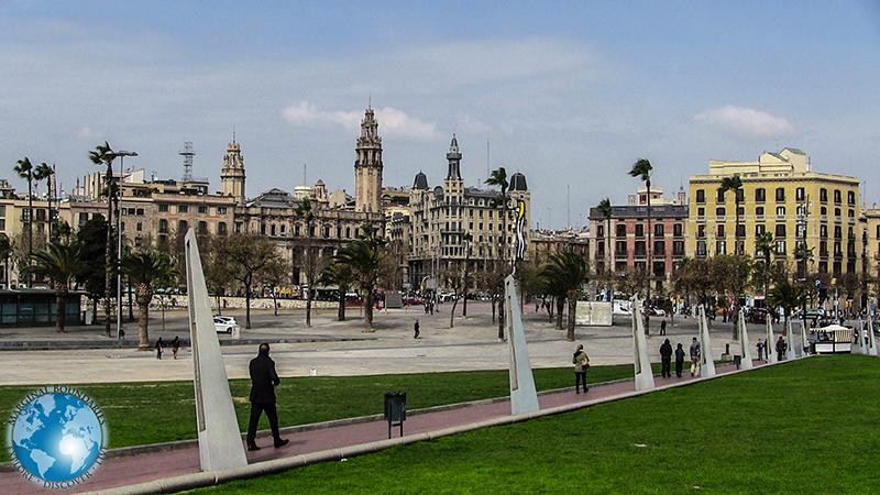 The Rambla de Mar in Barcelona