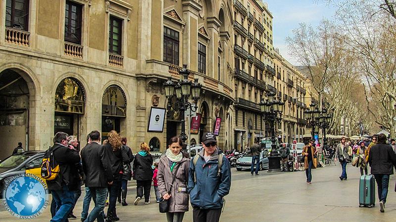 La Rambla en Barcelona