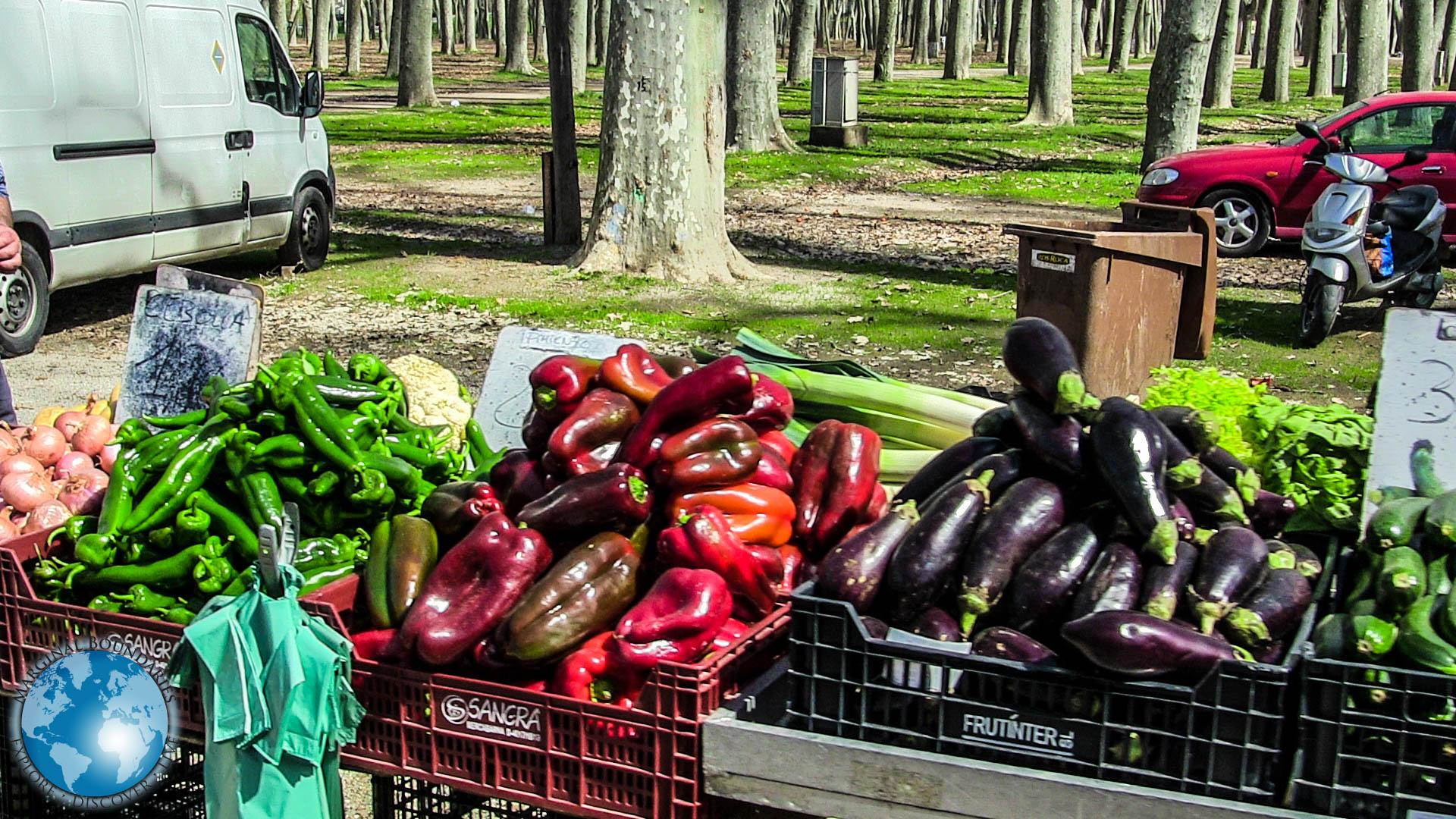 Fresh vegetables at the Devesa Market