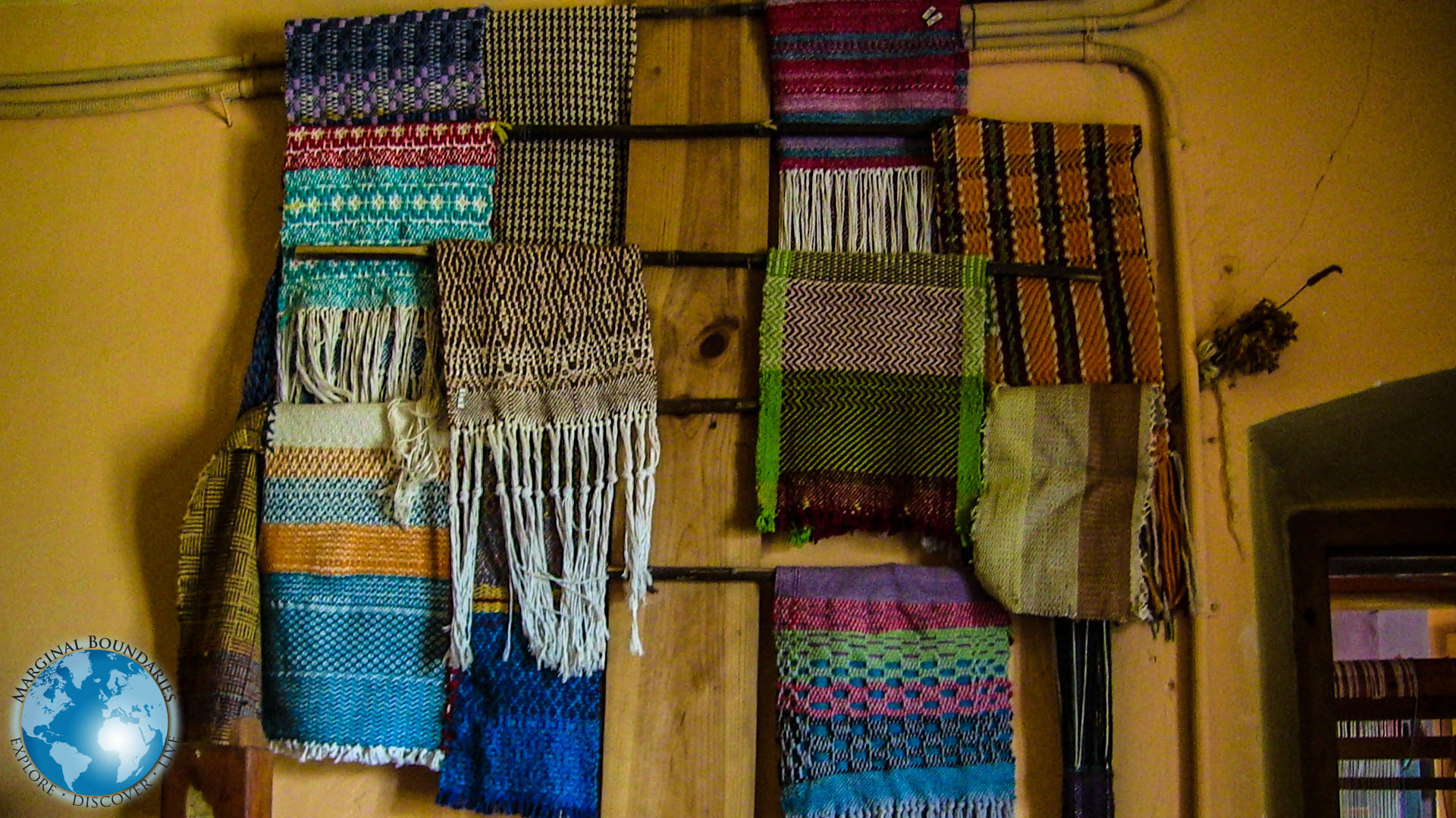 Handcrafted scarves from Babeus and his students