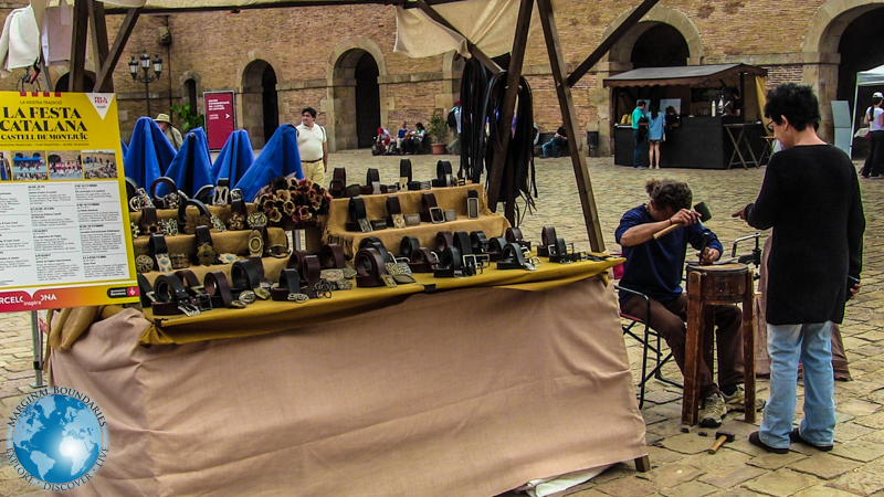 local leatherworker at La Festa Catalana 2015