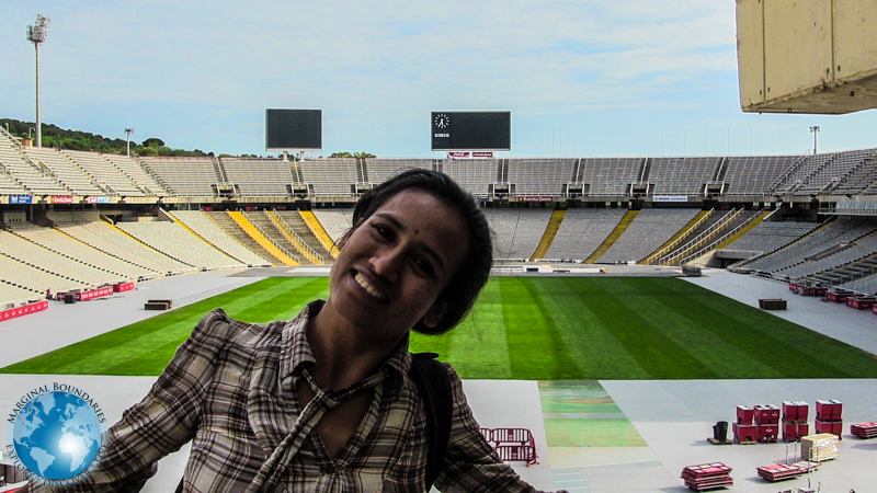 Cris at the Olympic Arena of Barcelona