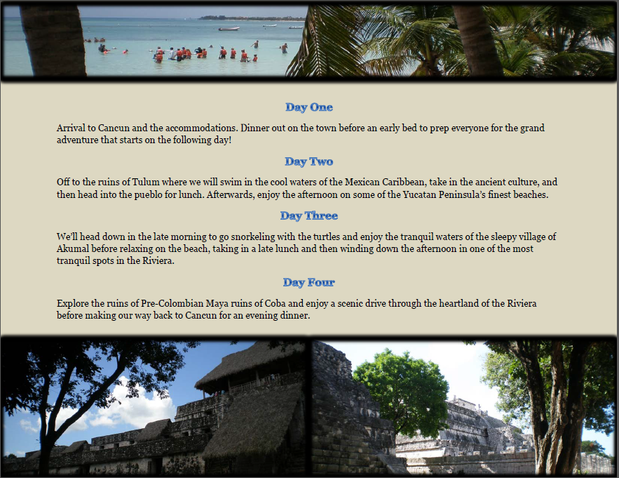 Riviera Maya Adventure Two