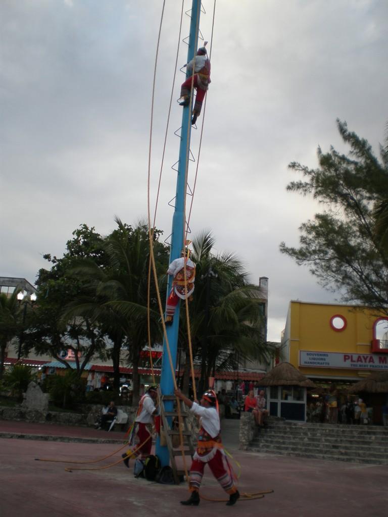 acrobats climbing