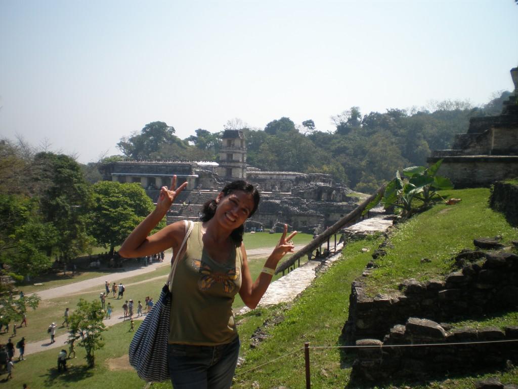 Cris in Palenque, Mexico