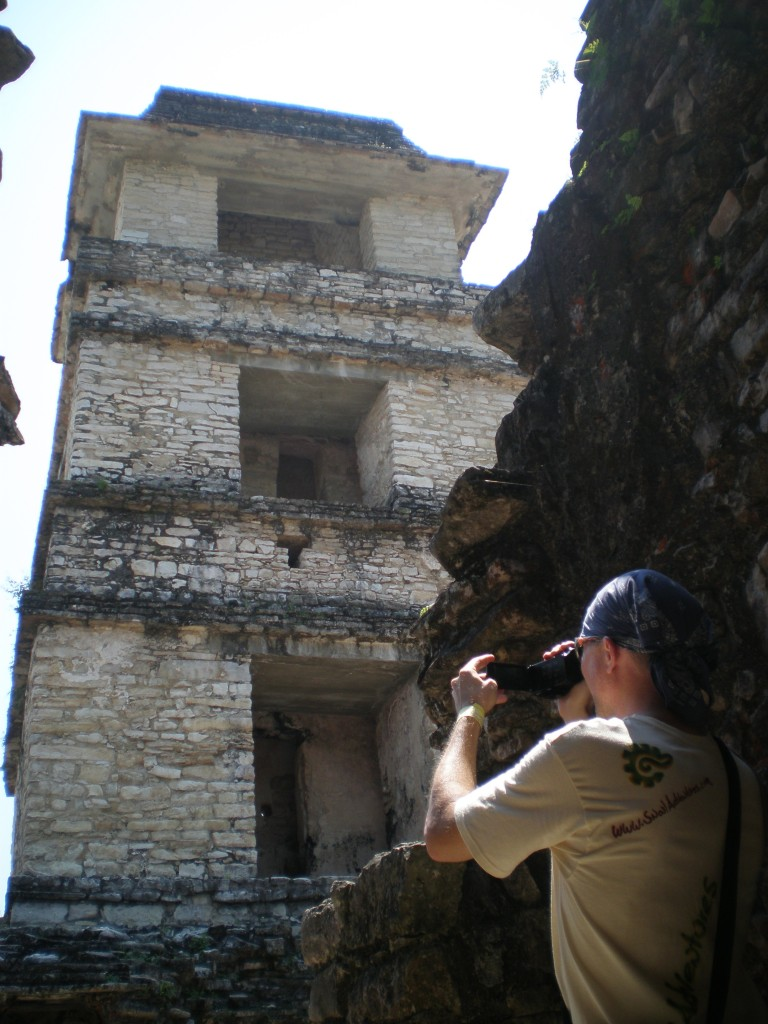 Tim in Palenque, Mexico