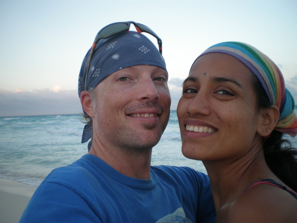 Cris and myself at Playa Marlyn, Cancun, Mexico