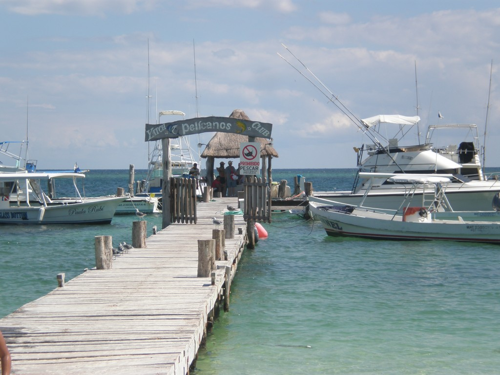The docks at Puerto Morelos