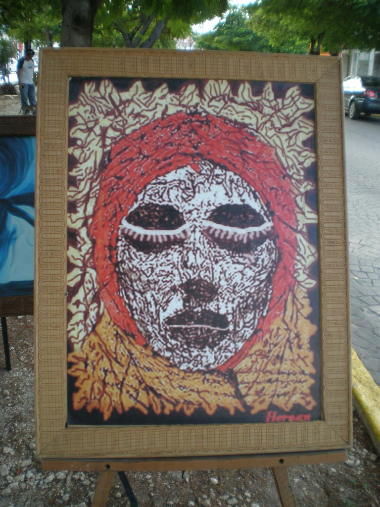 death head painting