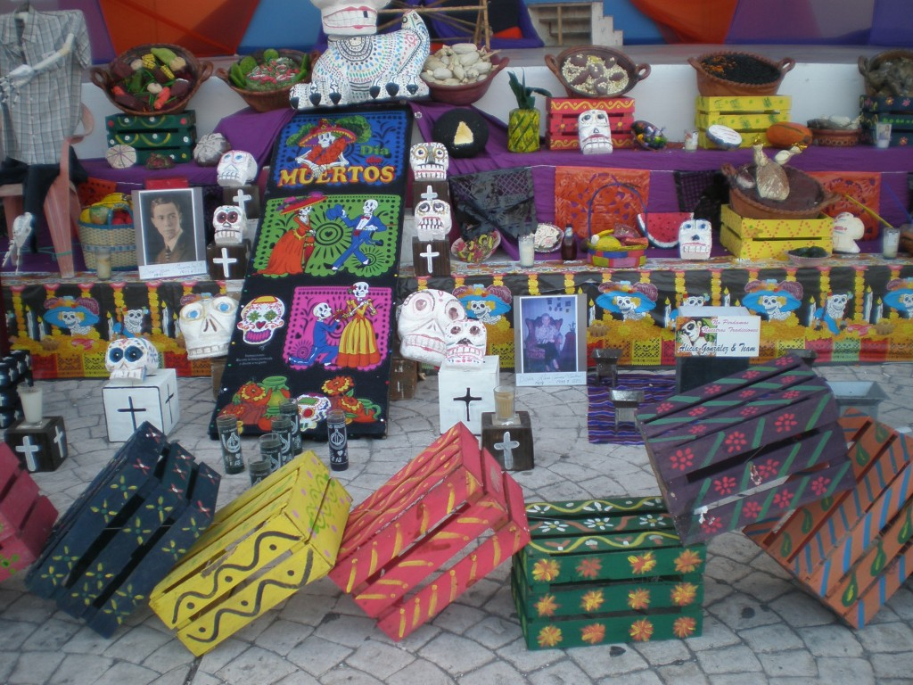 Shrine for Dia de los Muertos in Cancun