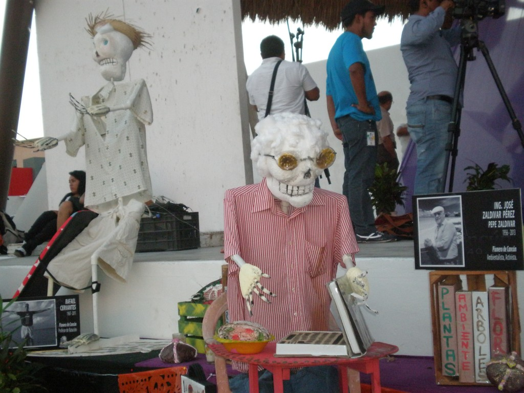Skeleton for Dia de los Muertos in Cancun