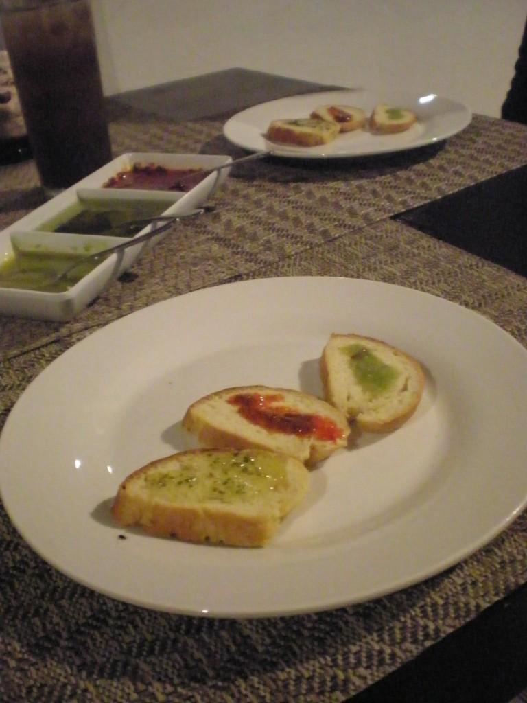 fresh, home-made bread at Assaggiare