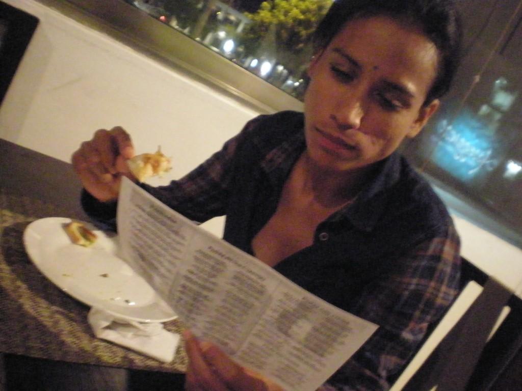 Cris eating bread