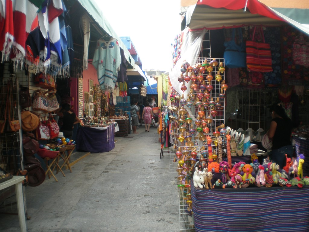 side street in the market