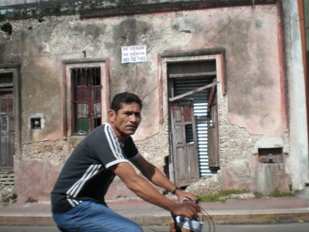 Mexican man on bike