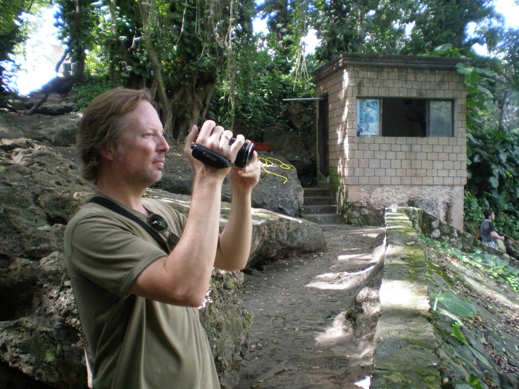 Tim filming