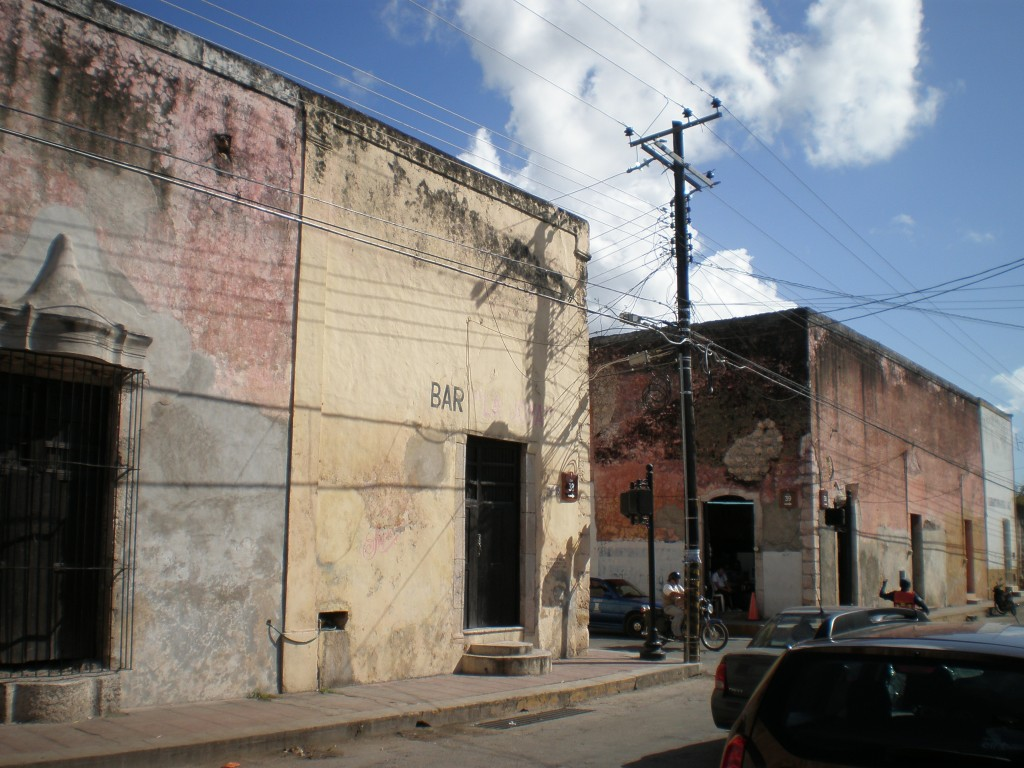 run-down buildings