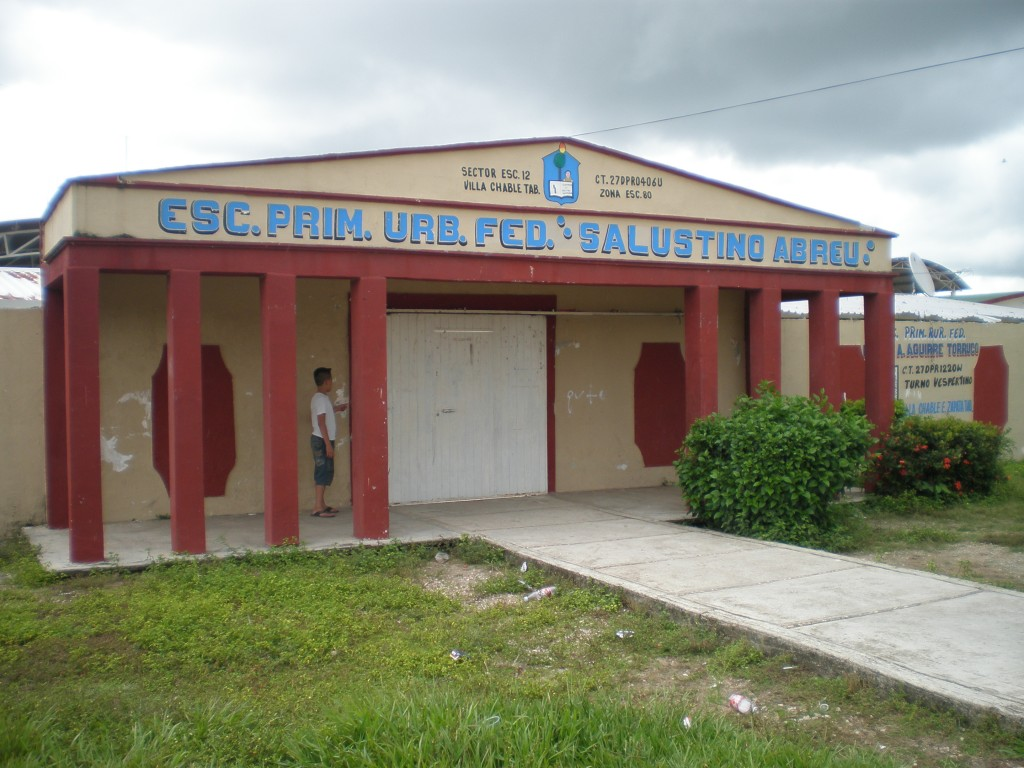 Grade school in Chable